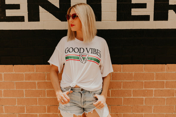 Good Vibes Graphic (White)