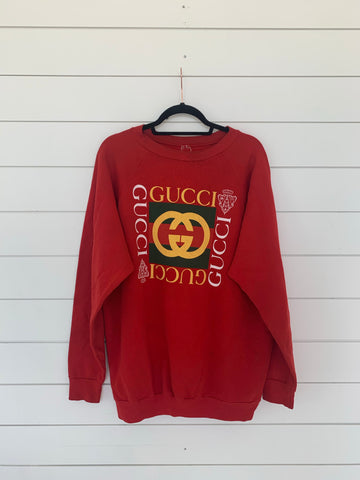 Gucci Dupe Pullover (Red)