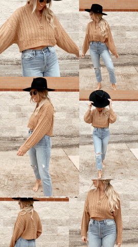 Terra Cable Knit Crop