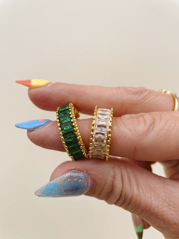 BLING BAGUETTE RING (2 COLORS)
