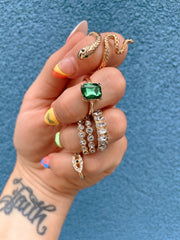 6 PIECE SNAKE RING SET