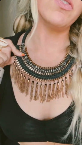 BOHO TASSEL NECKLACE SET