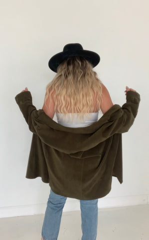 Vintage Faux Suede Shacket (1 available)