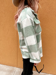 MINT FOR YOU PLAID SHACKET