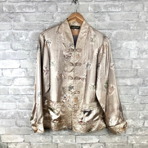 VINTAGE gold Jacquard Jacket (only 1 available)