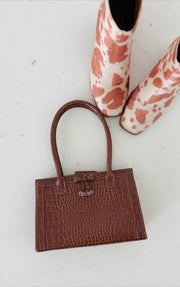 Liz Claiborne Brown Croc Purse (1 available)