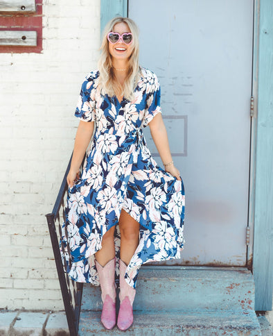Ashley Floral Wrap Dress