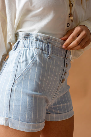 THE PERFECT PINSTRIPE SHORTS
