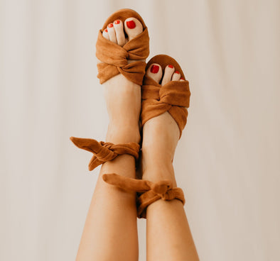 Twisted Suede Sandal