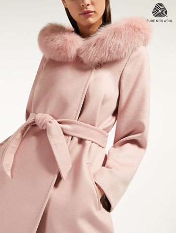 Max Mara Studio Wrap Wool Mango Coat