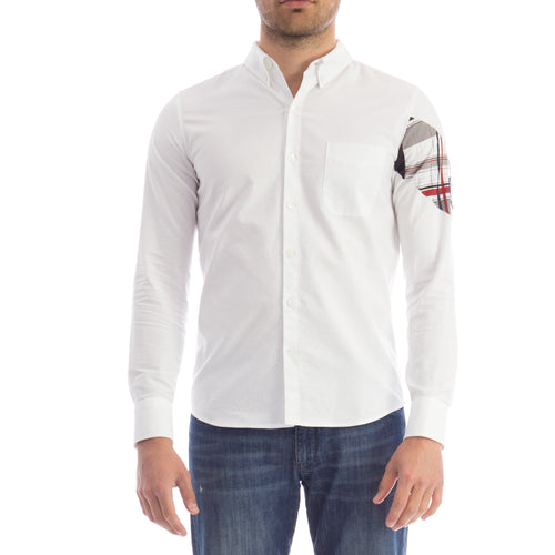 Moncler Gamme Blue Logo Cotton Shirt-MONCLER GAMME BLUE-SHOPATVOI.COM - Luxury Fashion Designer