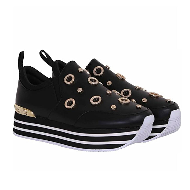 Versace Jeans Platform Leather Sneakers