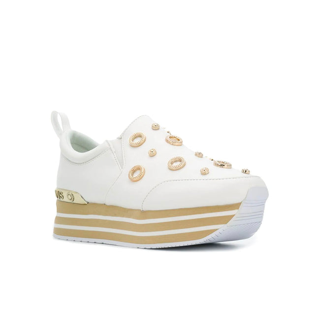 Versace Jeans Embellished Leather Sneakers
