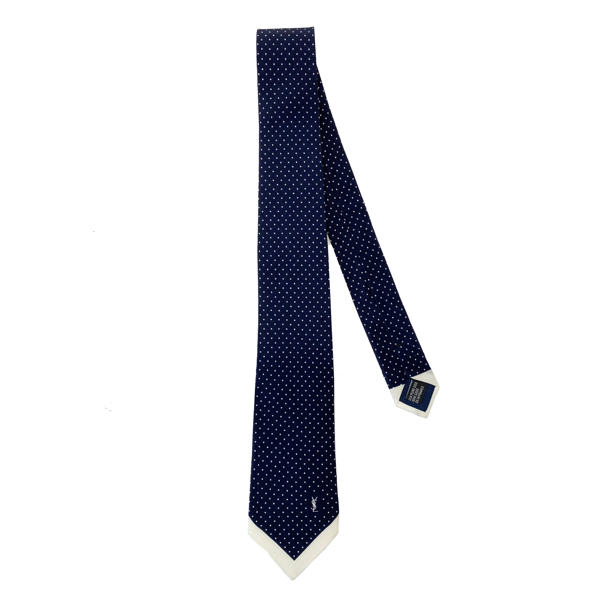 Saint Laurent Polka Dot Silk Tie