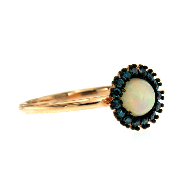 De Maria Jewelry 14k Rose Gold Opal Ring