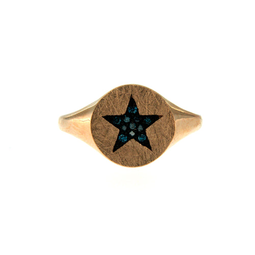 De Maria Jewelry 14k Gold Signet Ring