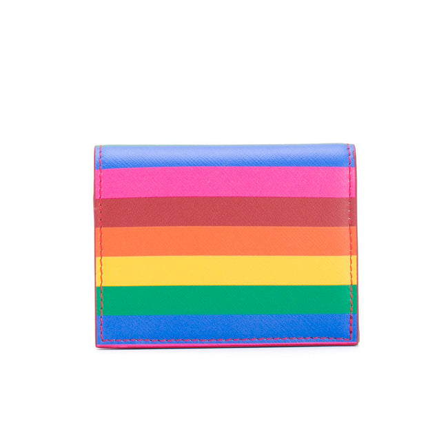 Salvatore Ferragamo Rainbow Gancini Card Case