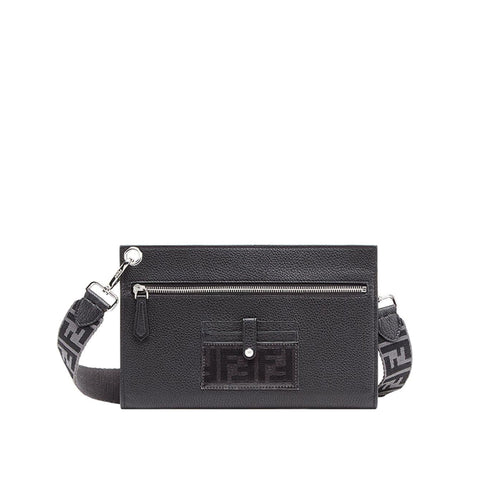 Fendi Leather Travel Clutch Bag