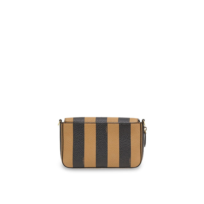 Fendi Striped Leather Shoulder Bag