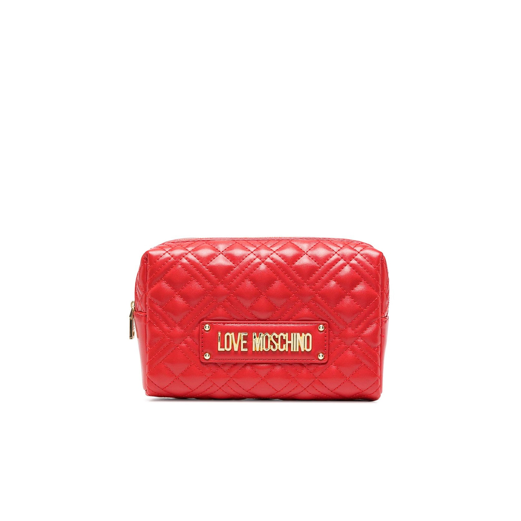 Love Moschino Quilted Logo Clutch