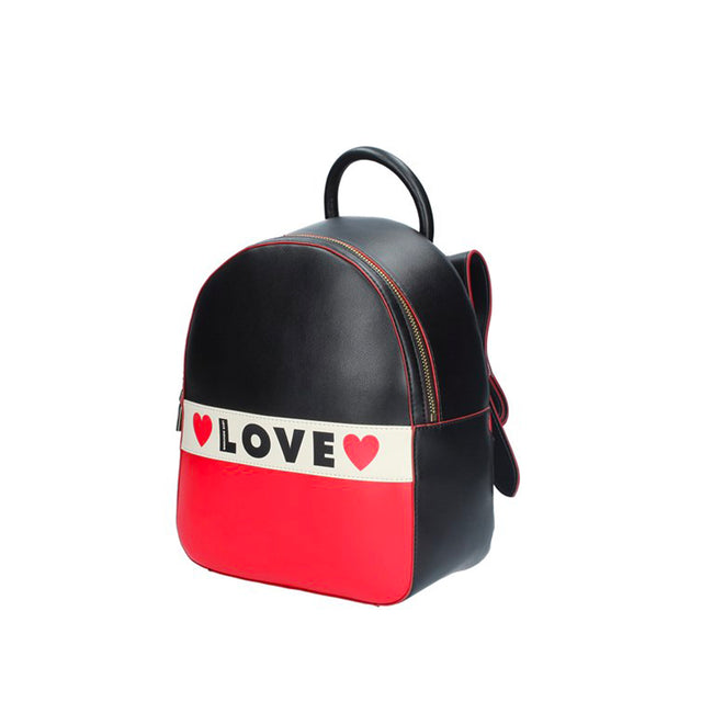Love Moschino Tricolor Logo Backpack