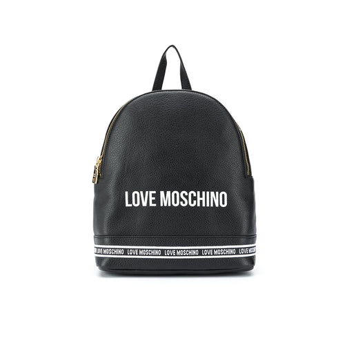 Love Moschino Leather Logo Backpack