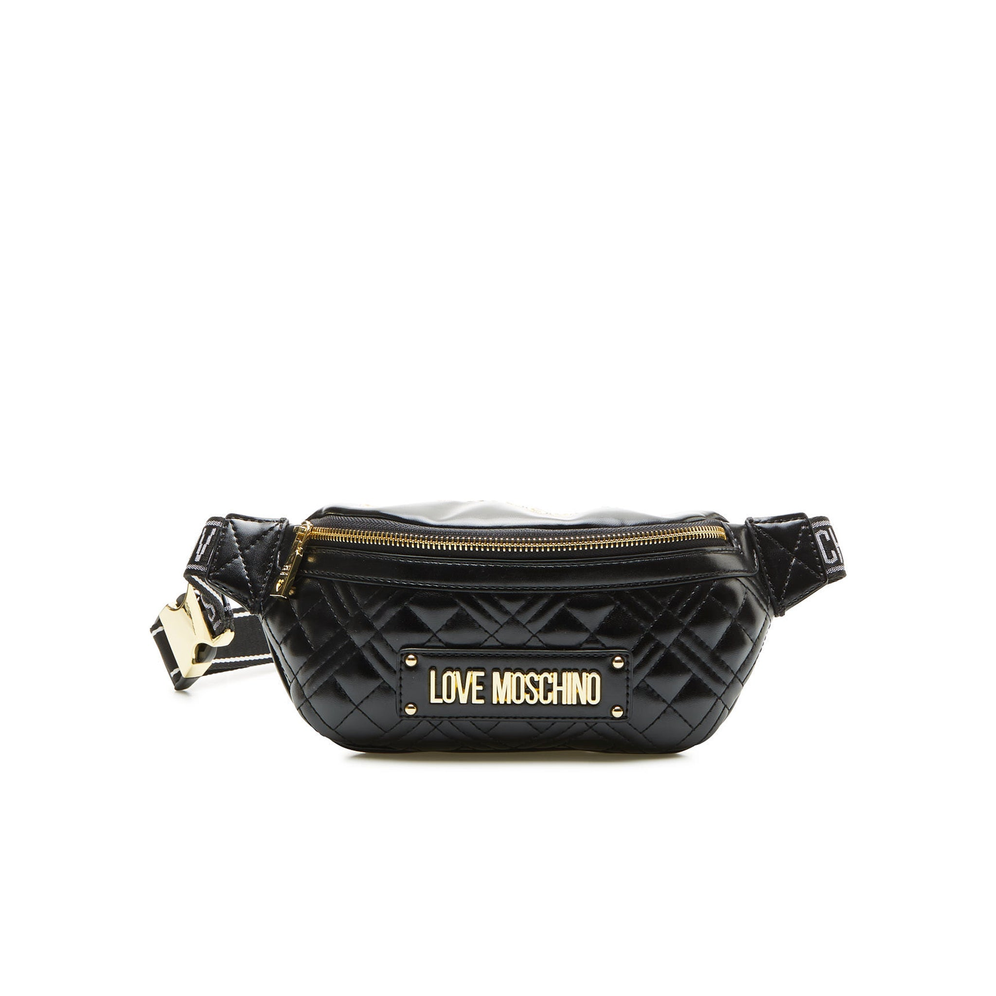 Love Moschino Quilted Logo Belt Bag