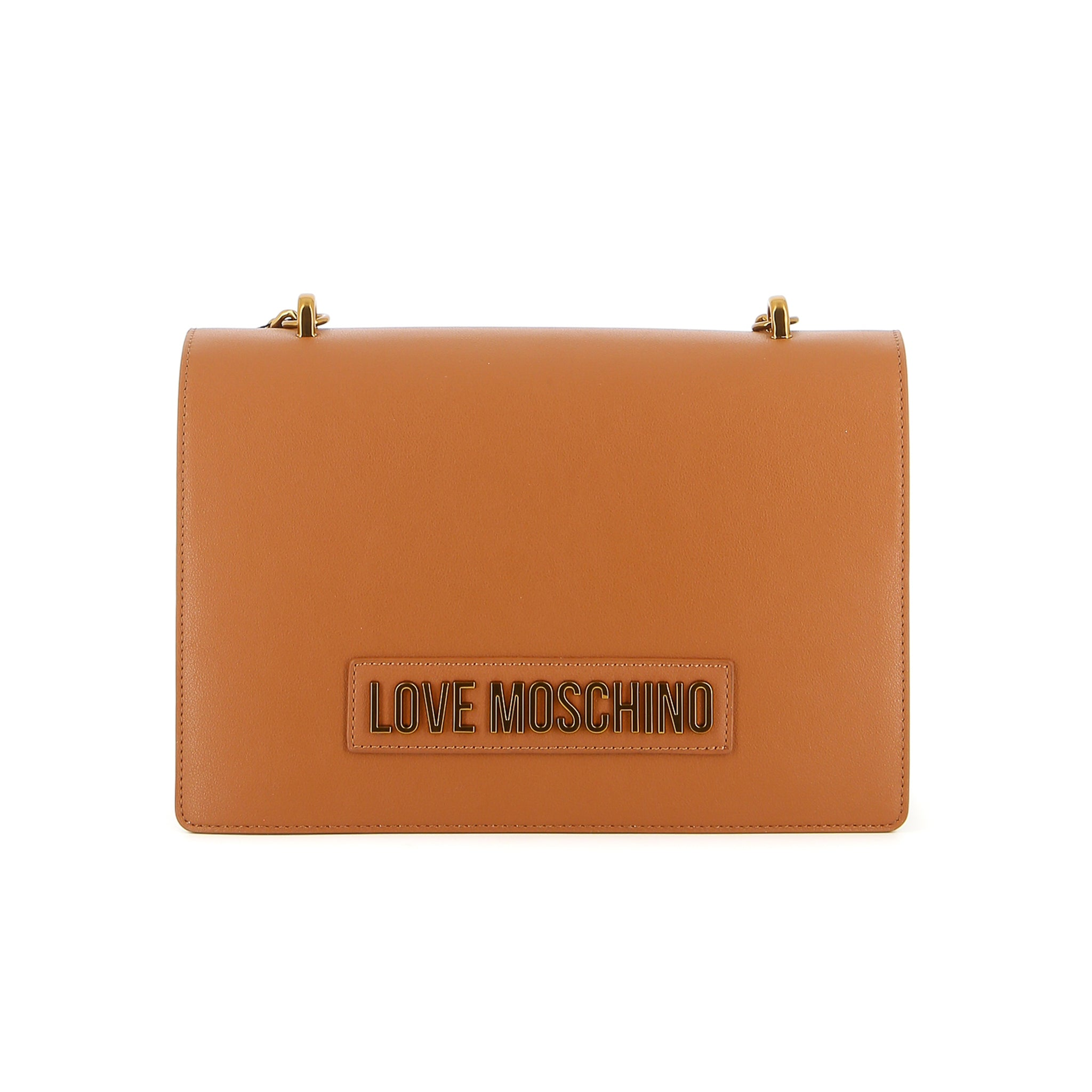 Love Moschino Logo Plaque Shoulder Bag