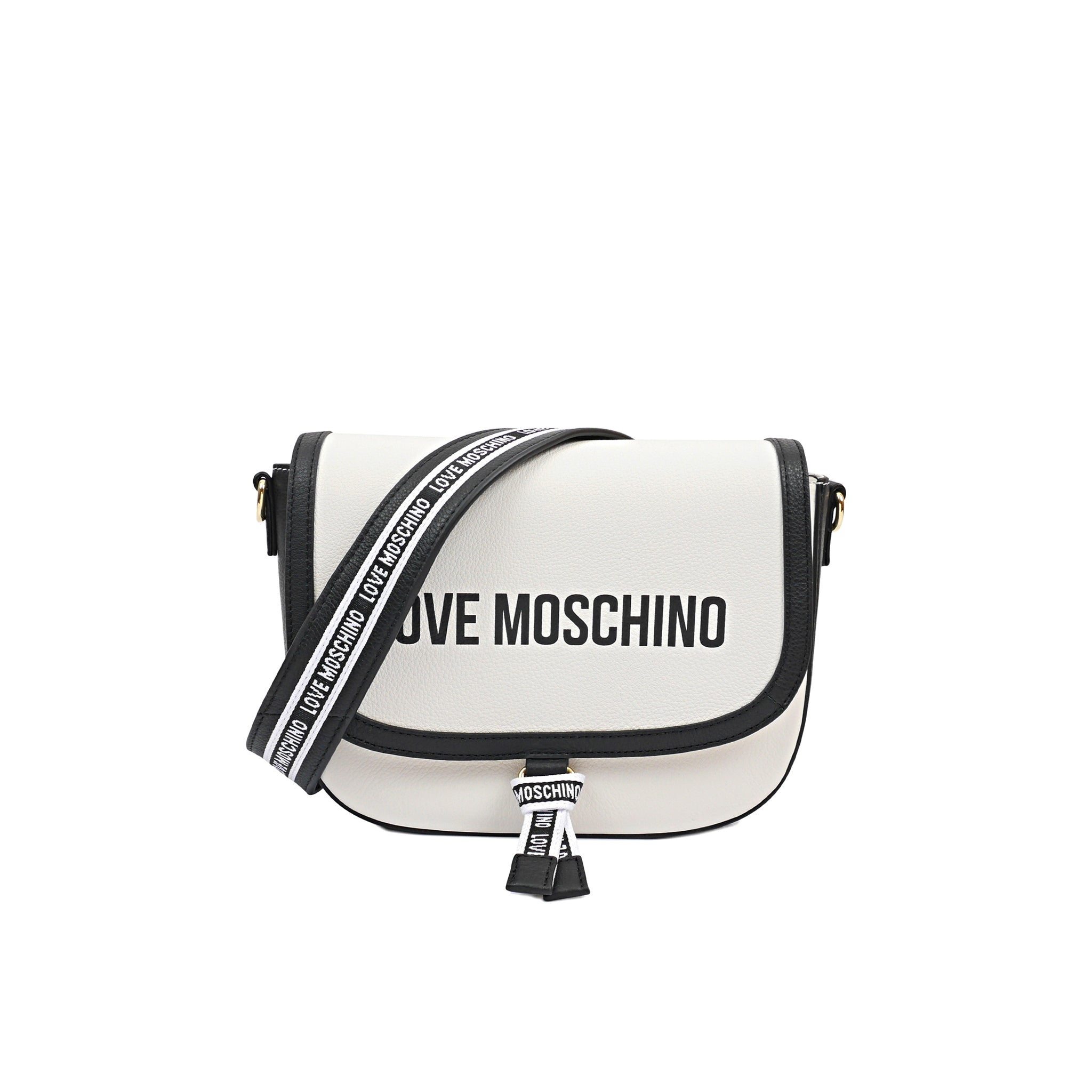 Love Moschino Logo Leather Suddle Bag