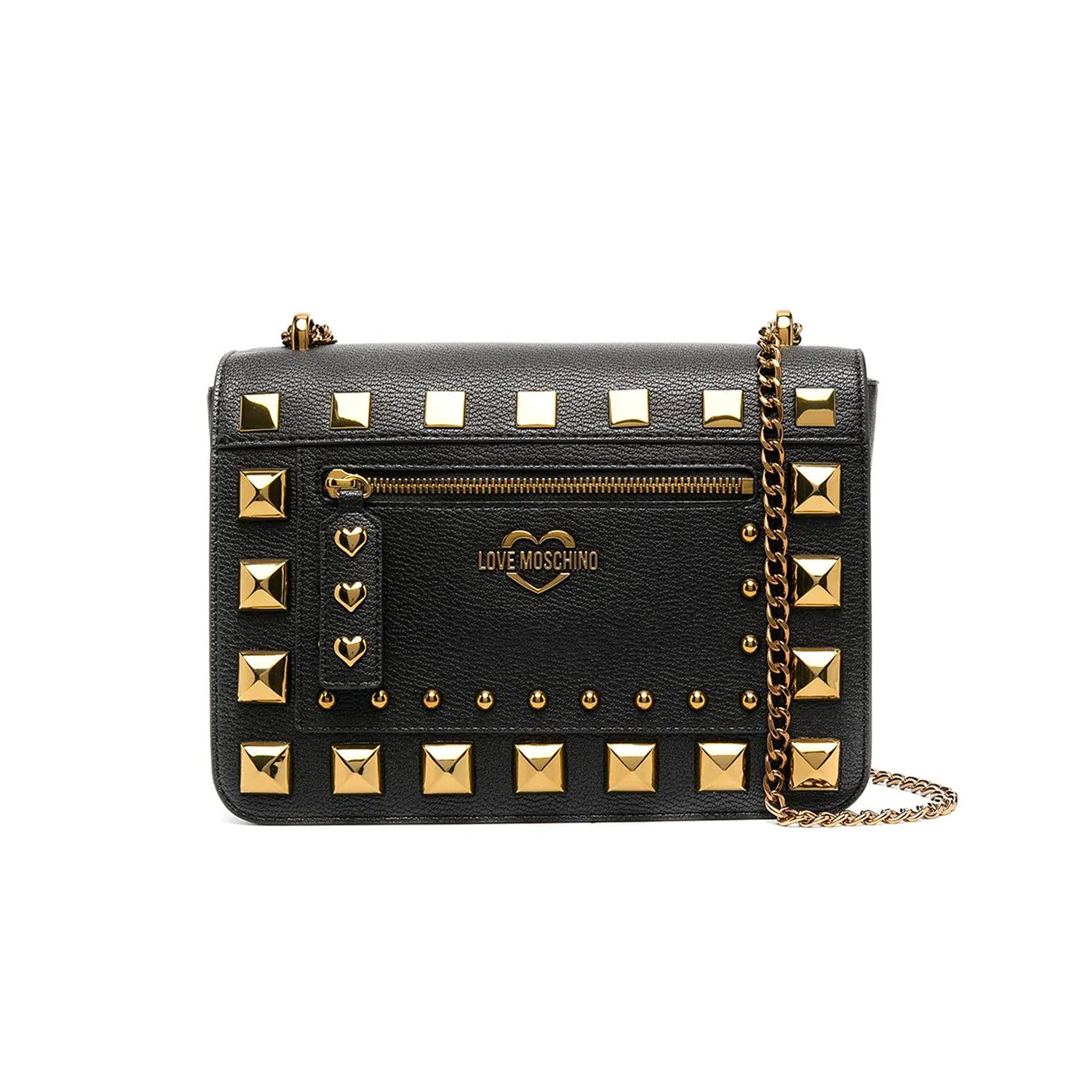 Love Moschino Studded Logo Crossbody Bag