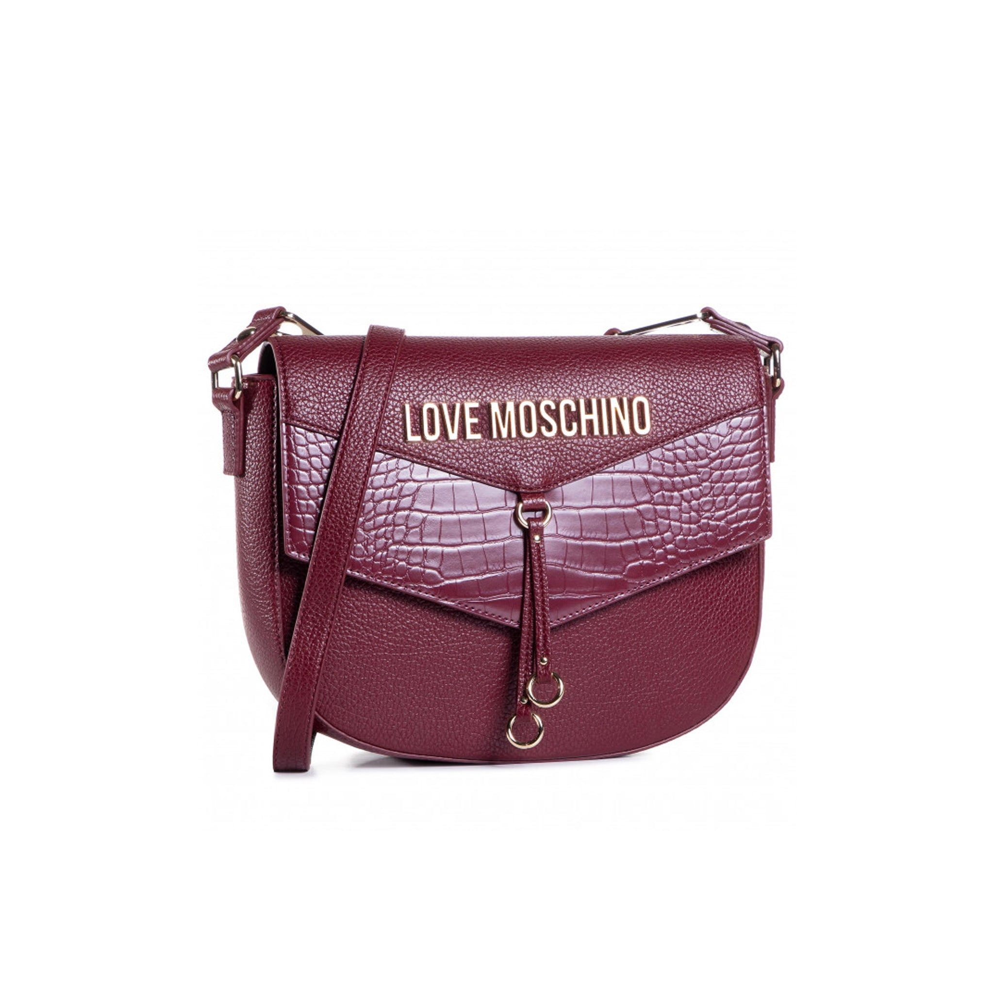 Love Moschino Croc Embossed Shoulder Bag