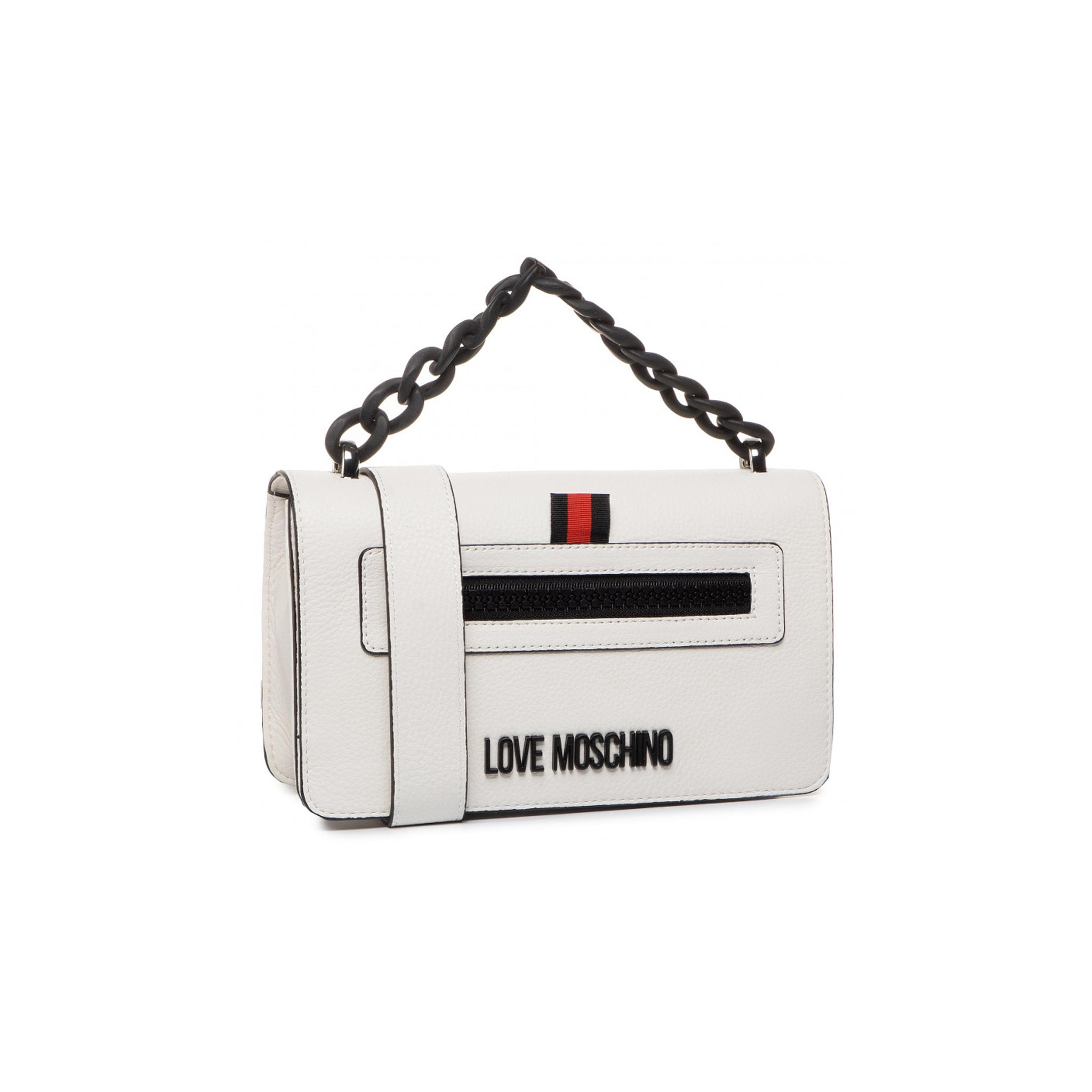 Love Moschino Logo Leather Shoulder Bag
