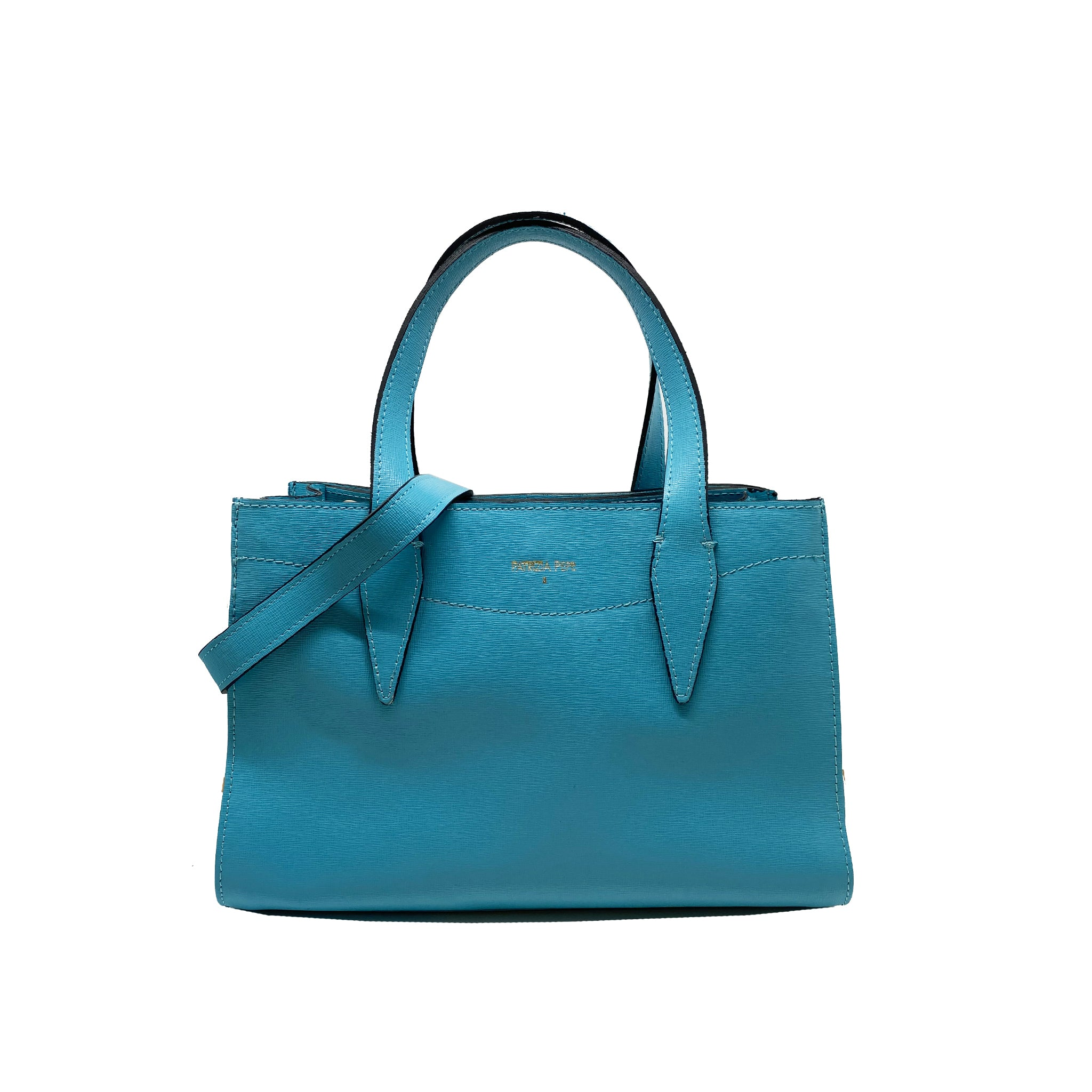 Patrizia Pepe Logo Leather Handbag