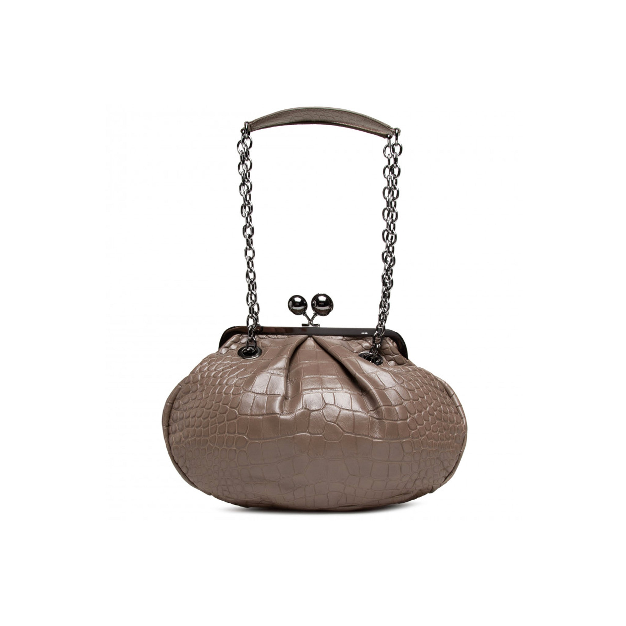 Max Mara Weekend Ottava Croc Pasticcino Bag