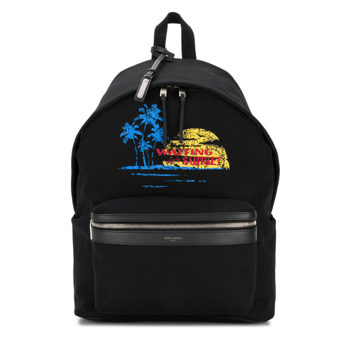 Yves Saint Laurent Cotton City Printed Backpack