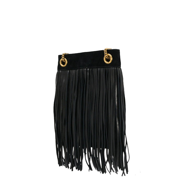 Yves Saint Laurent Suede Fringed Shoulder Bag