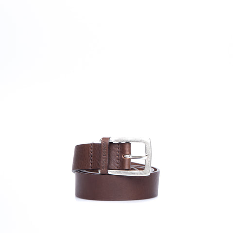 Armani Jeans Hammered Leather Belt-ARMANI JEANS-SHOPATVOI.COM - Luxury Fashion Designer