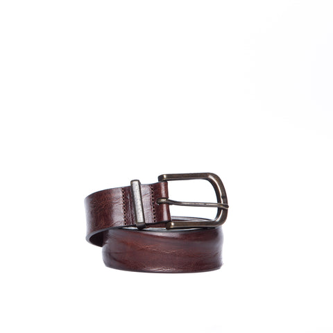 Armani Jeans Hammered Polished Leather Belt-ARMANI JEANS-SHOPATVOI.COM - Luxury Fashion Designer