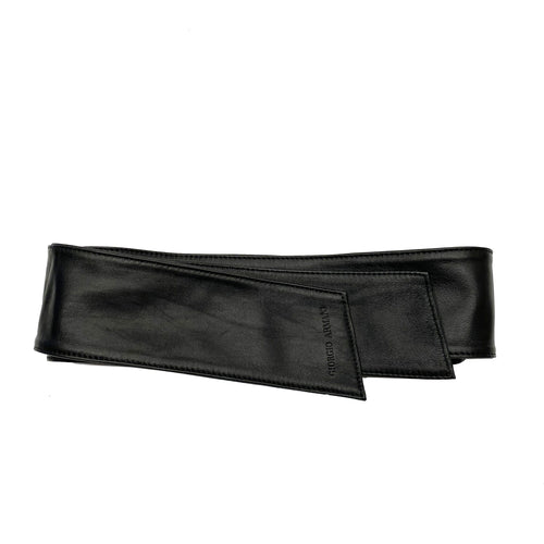 Giorgio Armani Double Wrap Leather Belt