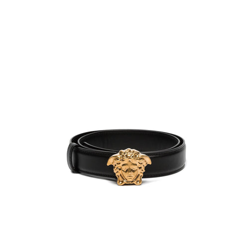 Versace Medusa Leather Buckle Belt