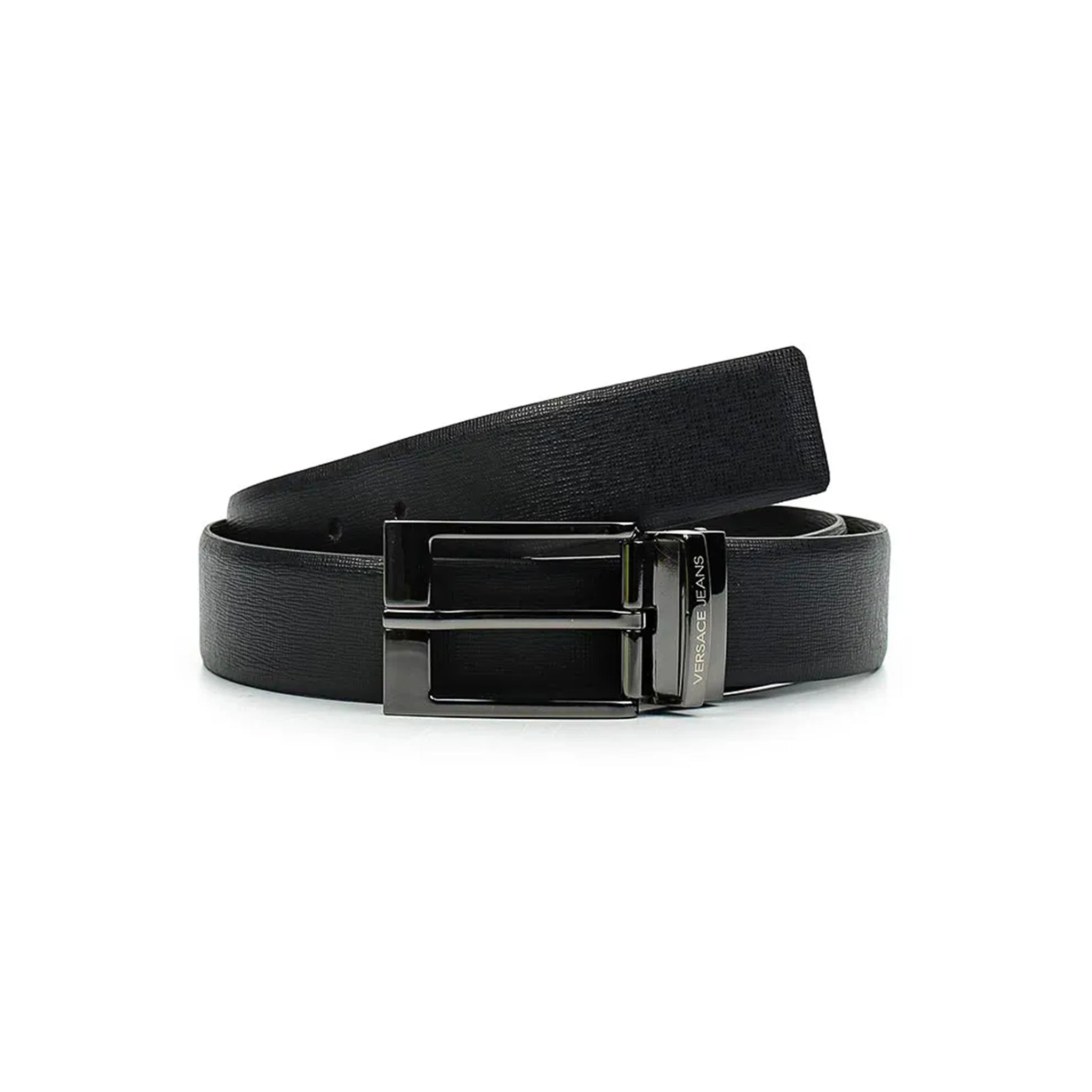 Versace Jeans Reversible Buckle Leather Belt