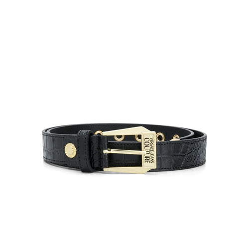 Versace Jeans Couture Logo Leather Belt