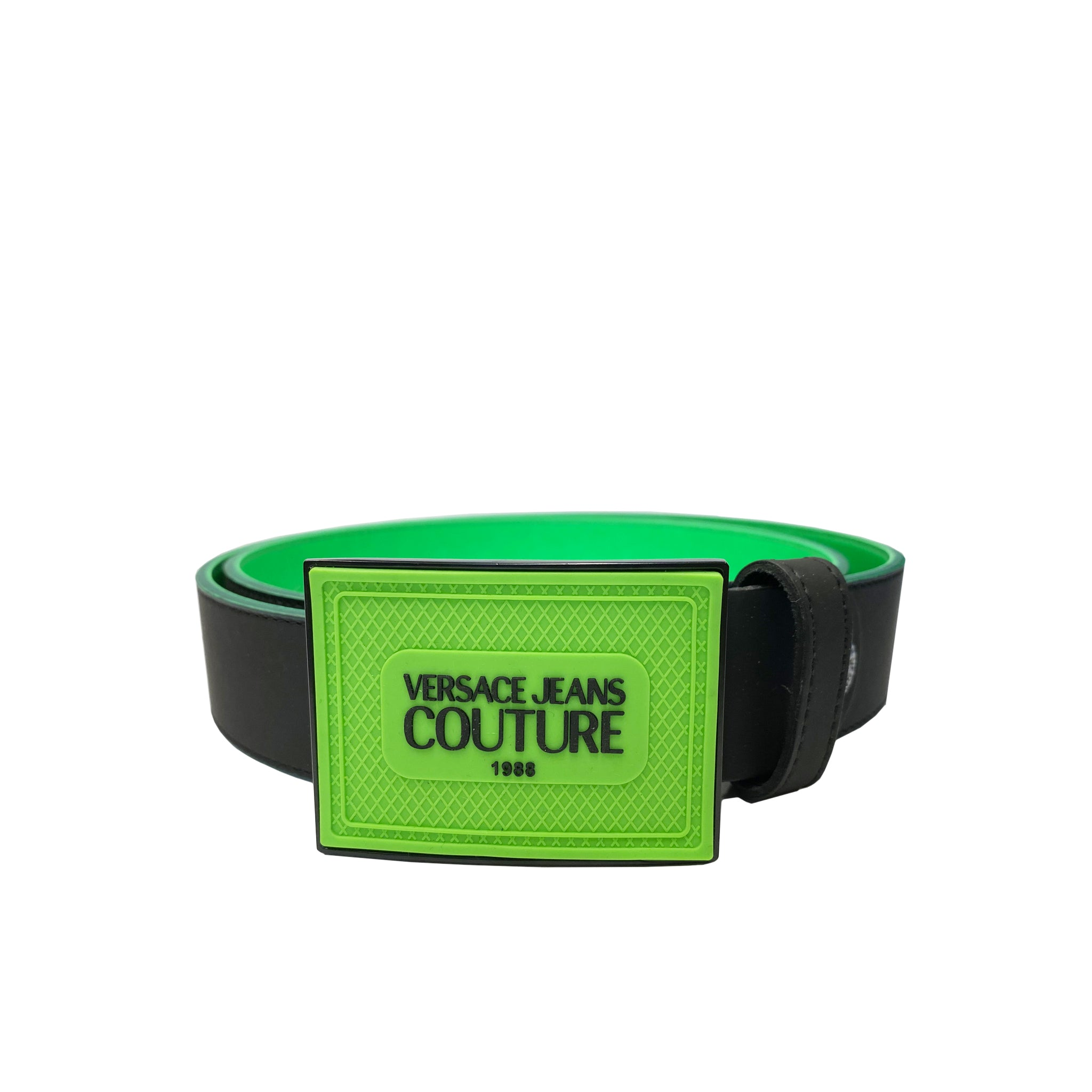 Versace Jeans Couture Logo Plaque Leather Belt