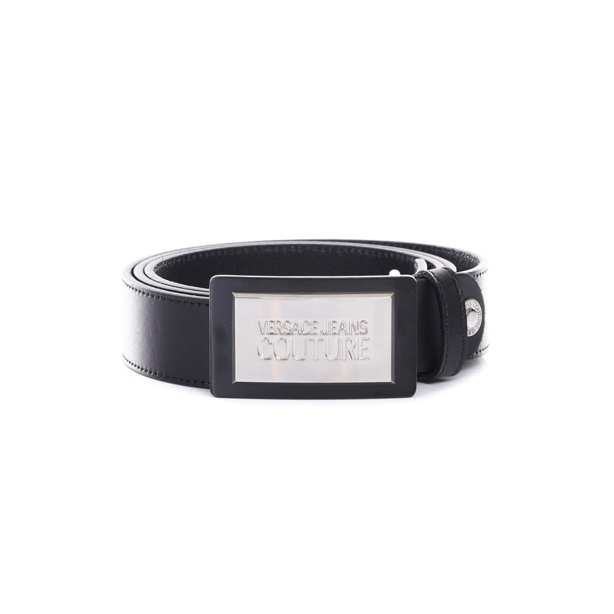 Versace Jeans Couture Logo Buckle Leather Belt
