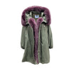 Blumarine Shadow Fox Fur Trim Parka