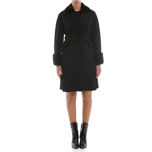 Heresis Mink Fur And Wool Coat-HERESIS-SHOPATVOI.COM - Luxury Fashion Designer