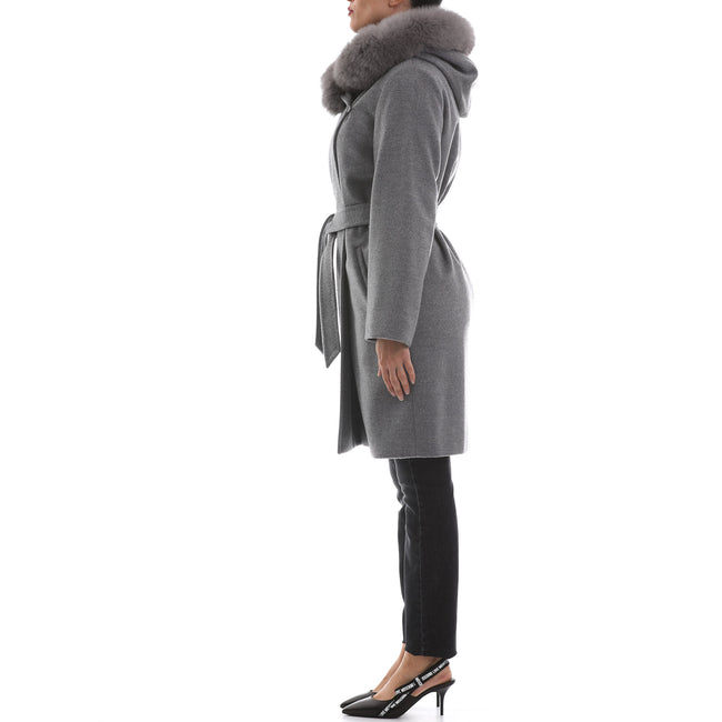 Max Mara Studio Hooded Wool Coat-MAX MARA STUDIO-SHOPATVOI.COM - Luxury Fashion Designer