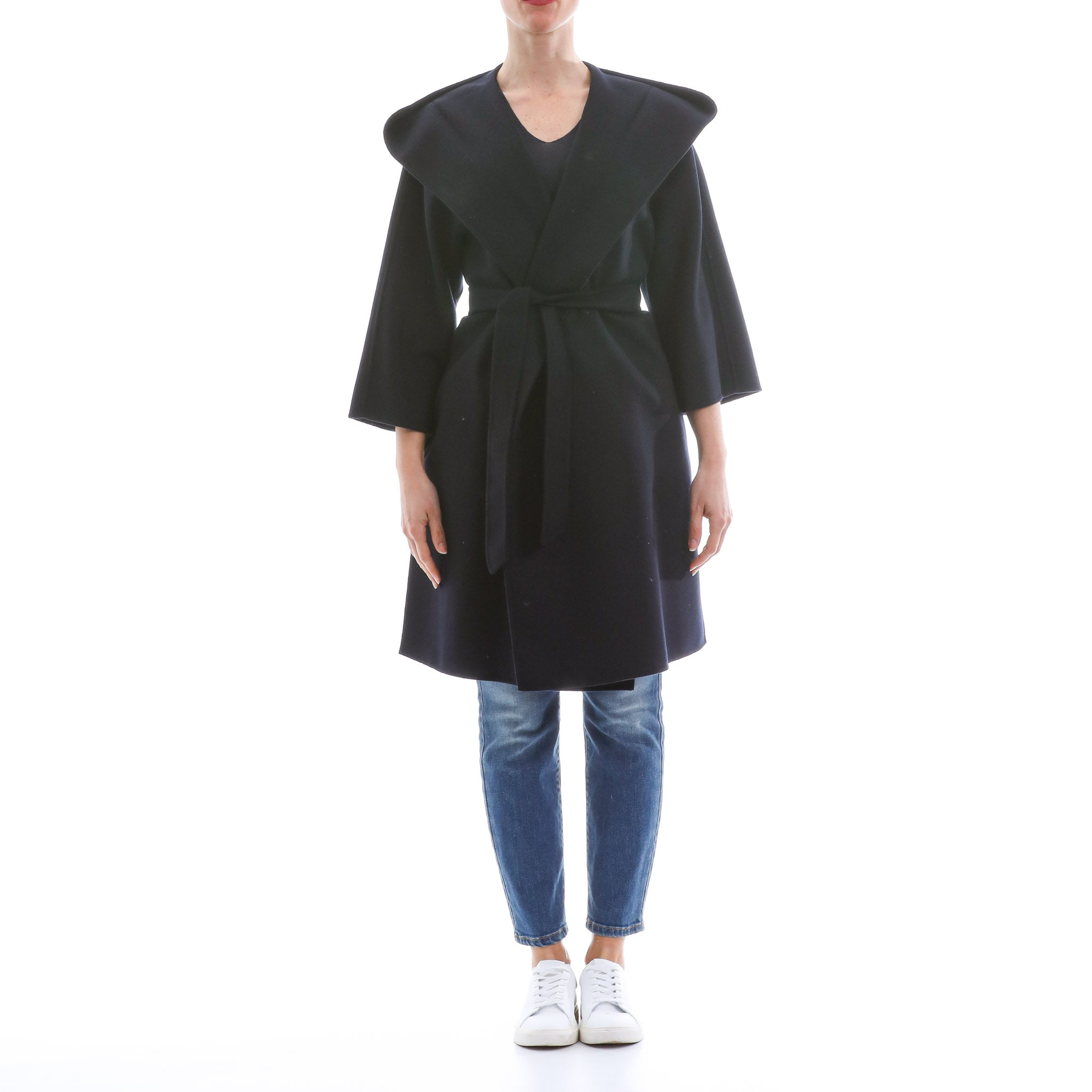 Max Mara Studio Hooded Wool Coat