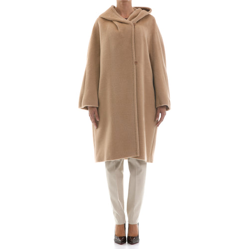 Max Mara Studio Alpaca And Wool Hooded Coat-MAX MARA STUDIO-SHOPATVOI.COM - Luxury Fashion Designer