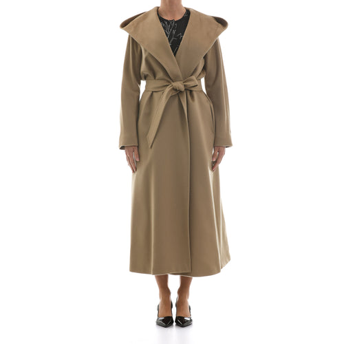 Max Mara Studio Long Wrap Wool Coat-MAX MARA STUDIO-SHOPATVOI.COM - Luxury Fashion Designer